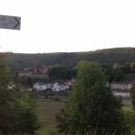 Mittelburg (l.) und Vorderburg (r.)